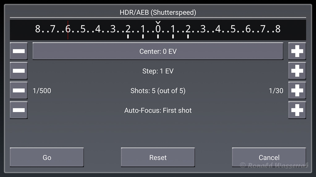 HDR/AEB (Shutterspeed)