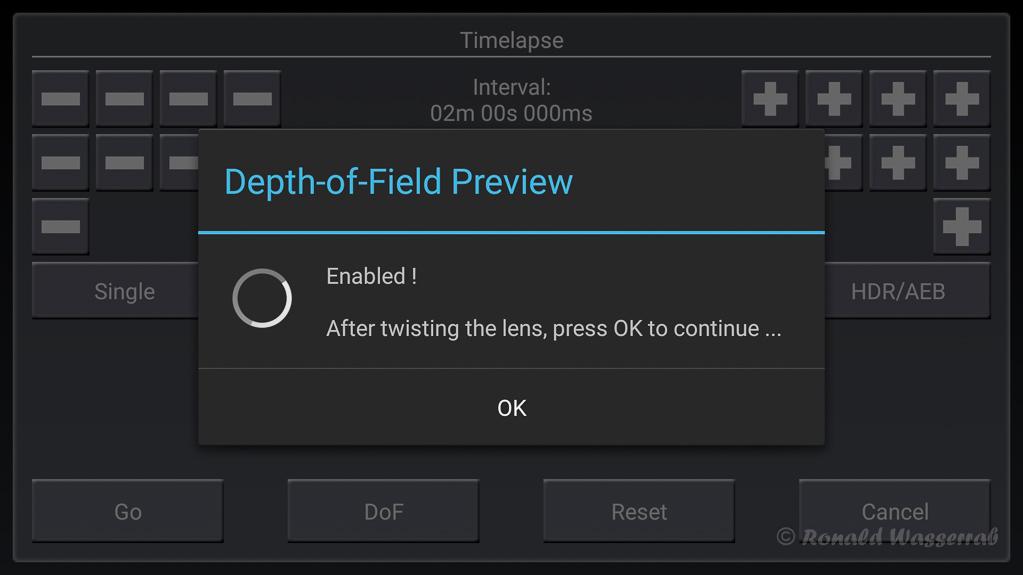 DoF (Depth of Field) - Prüfung der Scherfentiefe