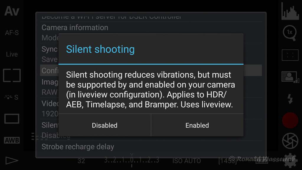 DSLR-Controller Anleitung - Silent shooting