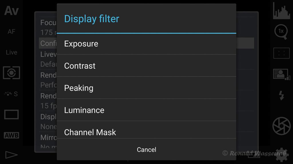 DSLR-Controller Anleitung - Filtereffekte für die Liveview-Darstellung