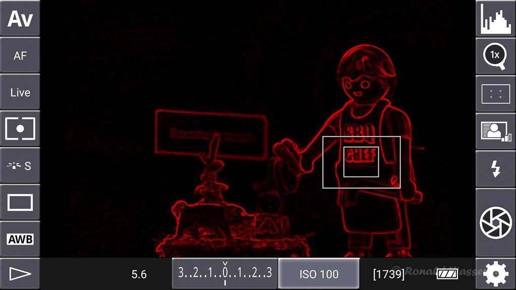 DSLR-Controller Anleitung - Display filter: Contrast Red
