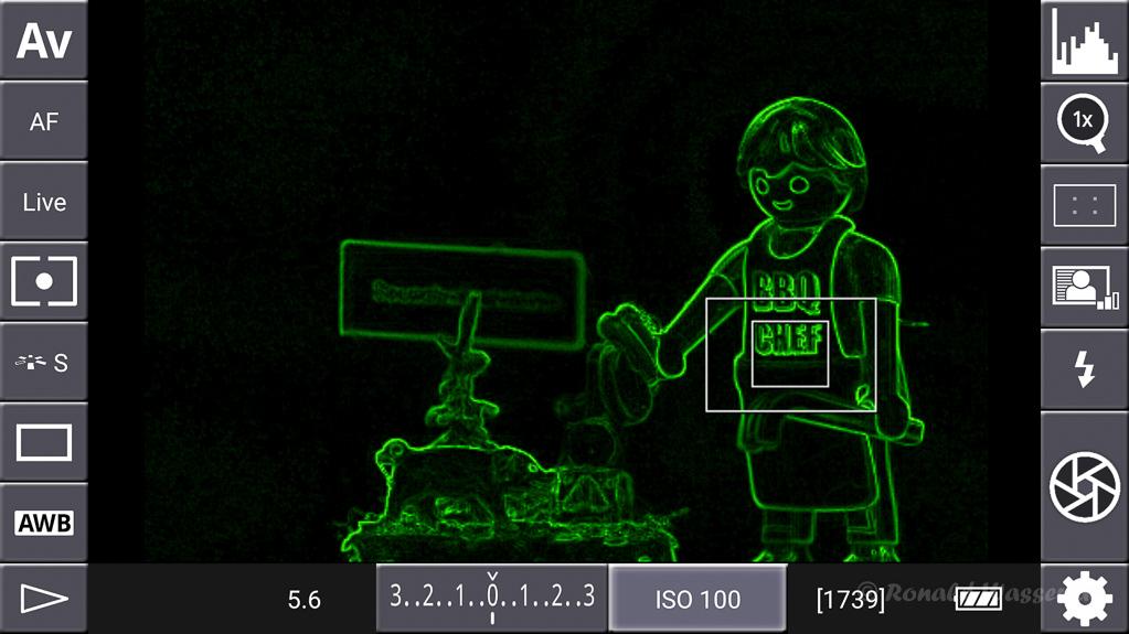 DSLR-Controller Anleitung - Display filter: Contrast Green