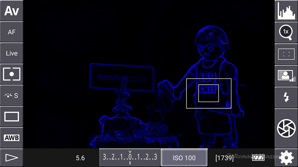 DSLR-Controller Anleitung - Display filter: Contrast Blue