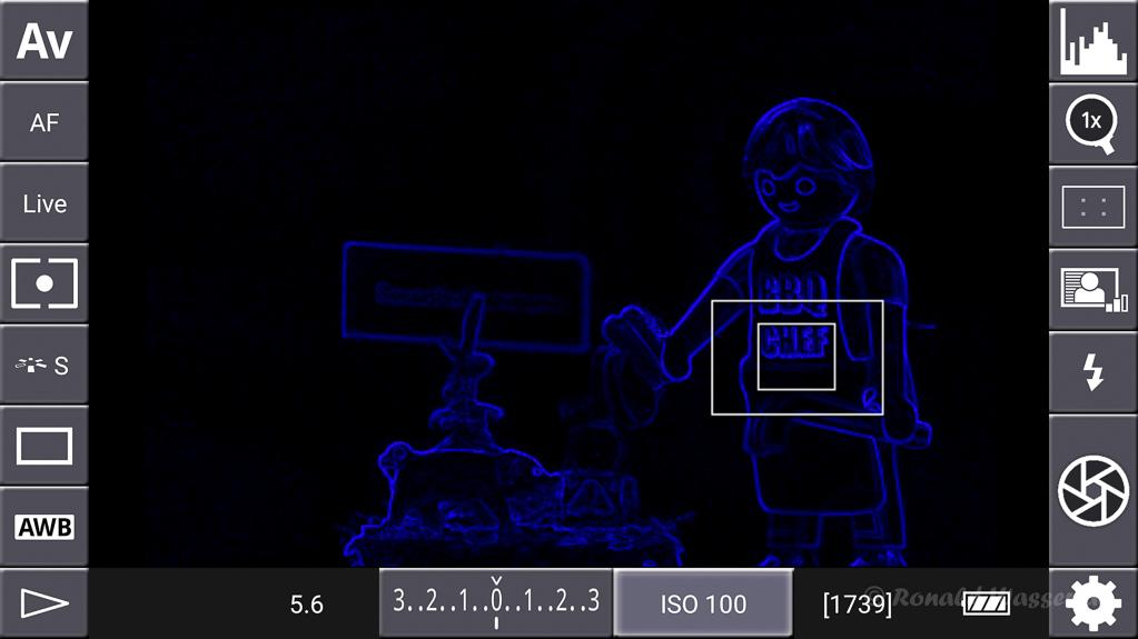 DSLR-Controller Anleitung - Display filter: Contrast Blue