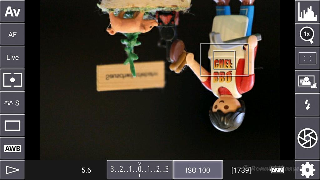 DSLR-Controller Anleitung - Mirroring : Flip Y axis (auf den Kopf gedreht)