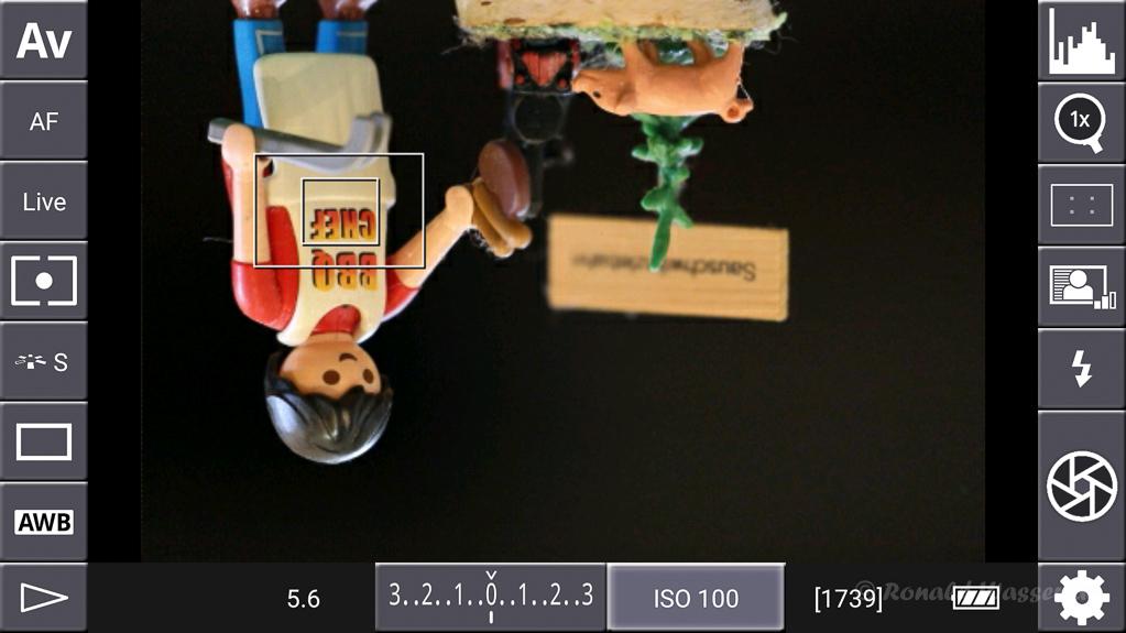 DSLR-Controller Anleitung - Mirroring : Flip both X and Y axis (spiegelverkehrt und auf den Kopf gedreht)
