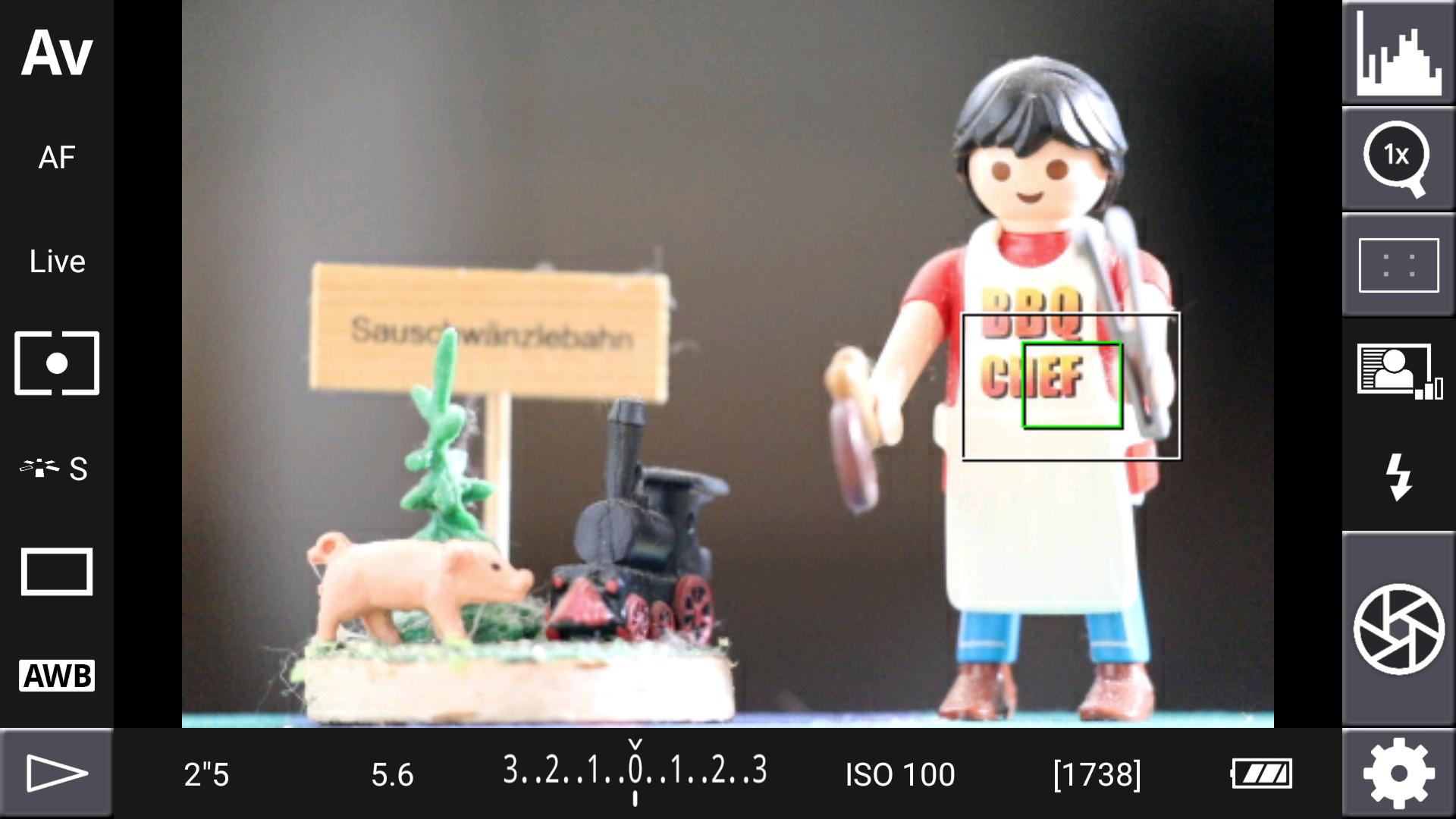 DSLR-Controller Anleitung - Display filter: Channel Mask (ohne bzw. Rot, Grün und Blau)