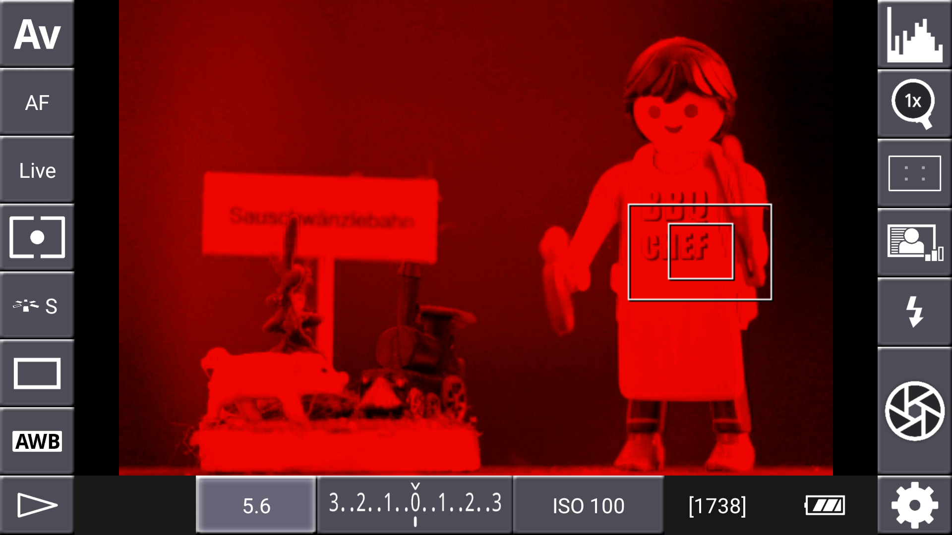 DSLR-Controller Anleitung - Display filter: Channel Mask (Rot)