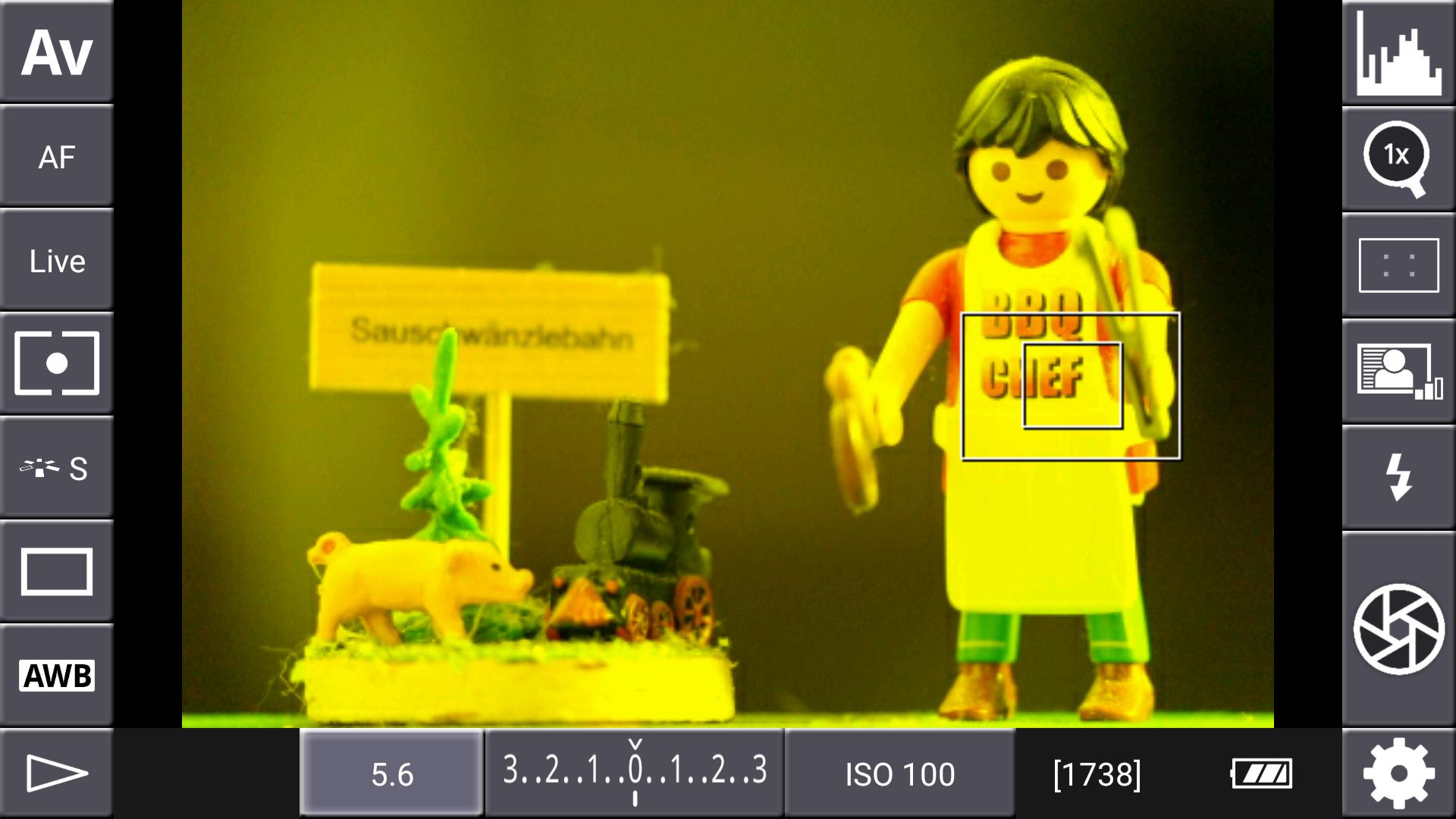 DSLR-Controller Anleitung - Display filter: Channel Mask (Rot + Grün)