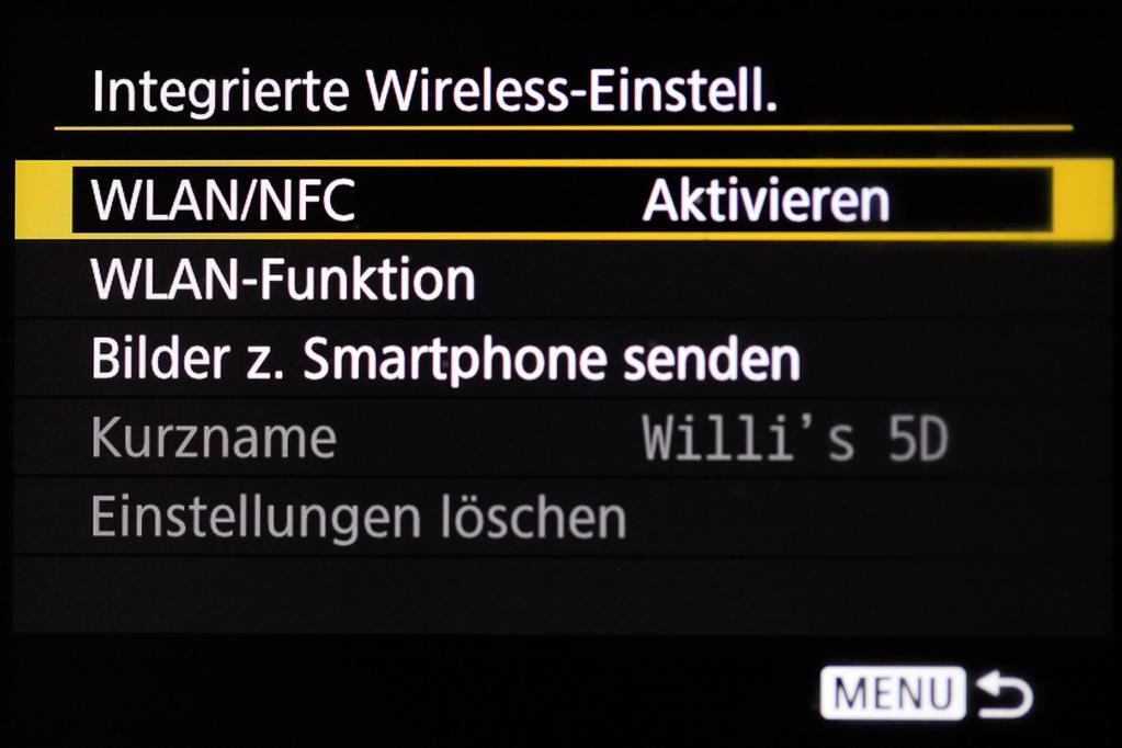 Canon mit Smartphone verbinden - WLAN/NFC deaktivieren/aktivieren