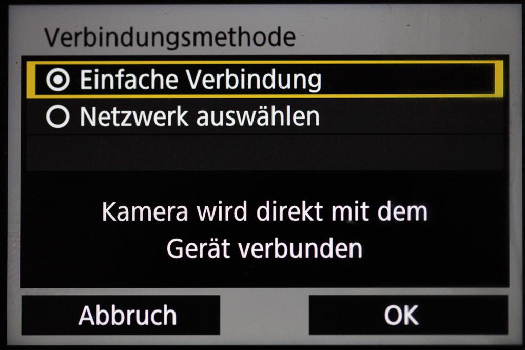 """Canon mit Smartphone verbinden - Verbindungsmethode """"Einfache Verbindung"""""""
