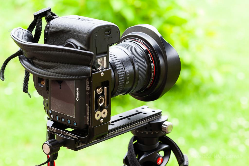 Einzeiliger Nodalpunktadapter mit Kamera