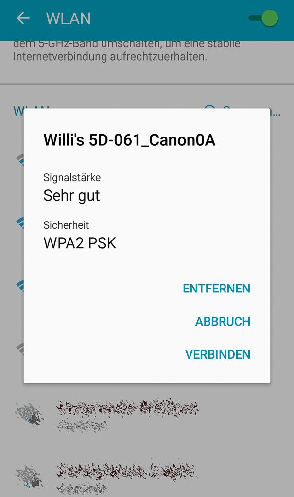Canon mit Smartphone verbinden - Verbinden