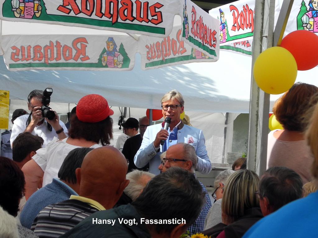 Hansy Vogt auf der Schlemmermeile (Foto: Heinz-Dieter Hannes)