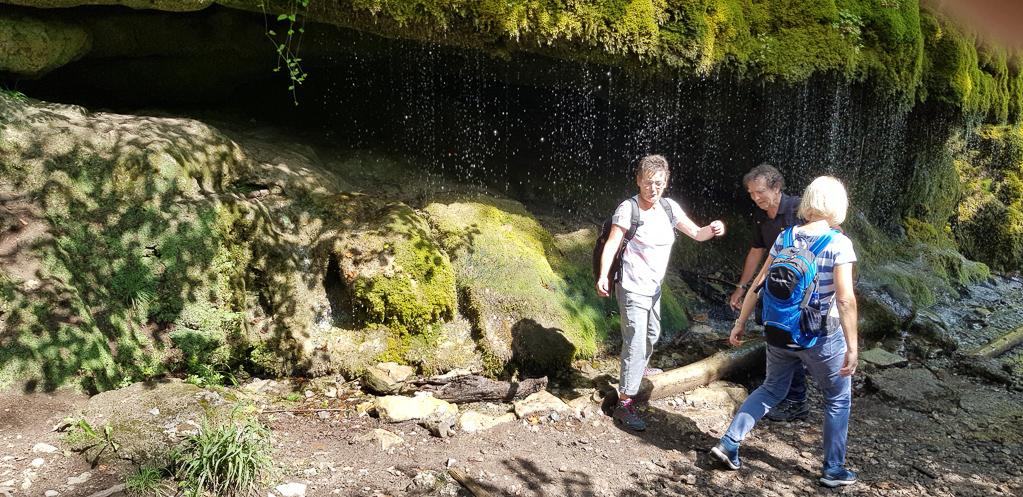 Am Wasserfall in der Wutachschlucht