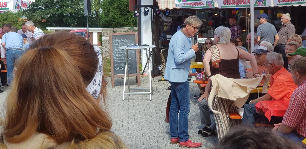 Hansy Vogt auf der Schlemmermeile