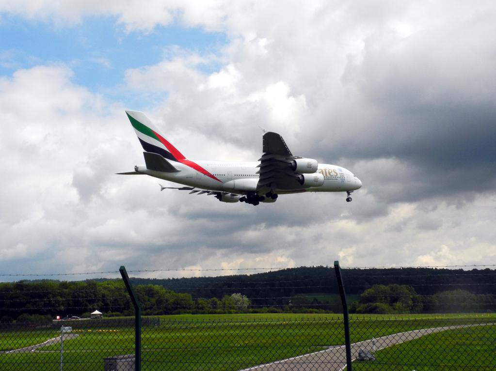 A380 in Zürich-Klothen (Foto: Heinz-Dieter Hannes)