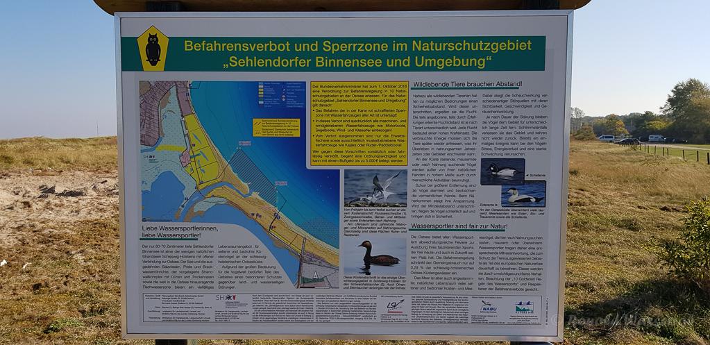 Infotafel am Sehlendorfer Binnensee