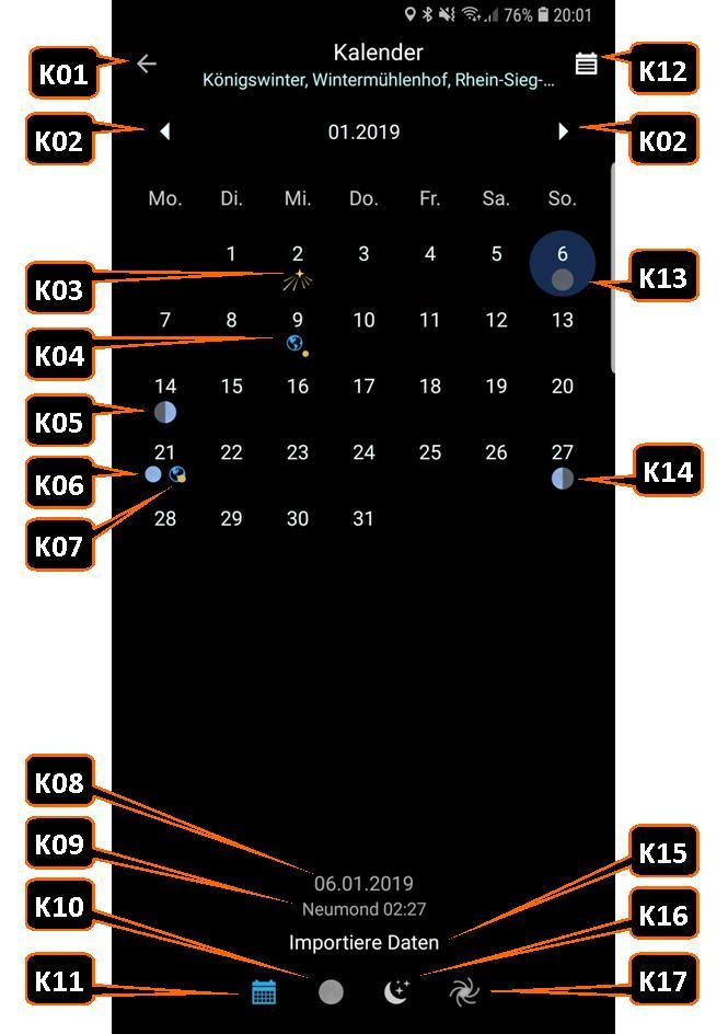 """PlanIt!-Kalender """"Importierte Daten"""""""