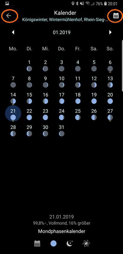 PlanIt!-Mondphasenkalender
