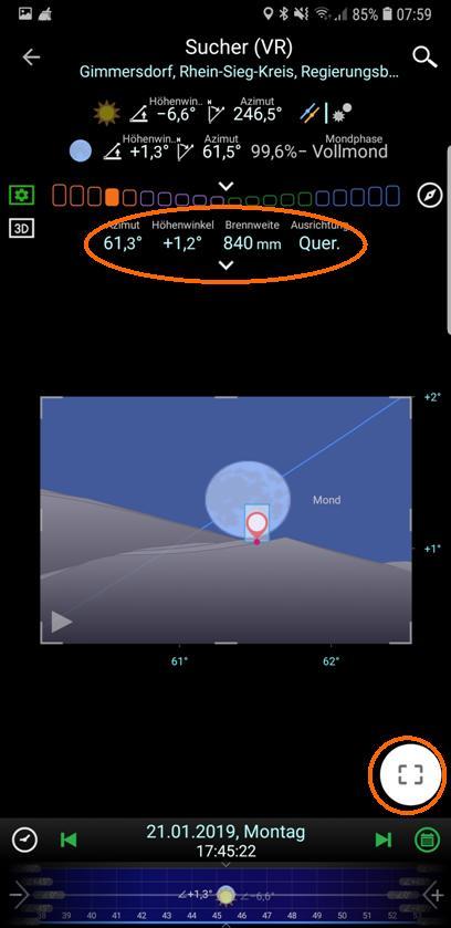 PlanIt! Virtueller Sucher mit 840 mm Brennweite