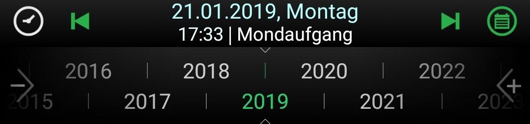 Zeitleiste mit Jahresintervall