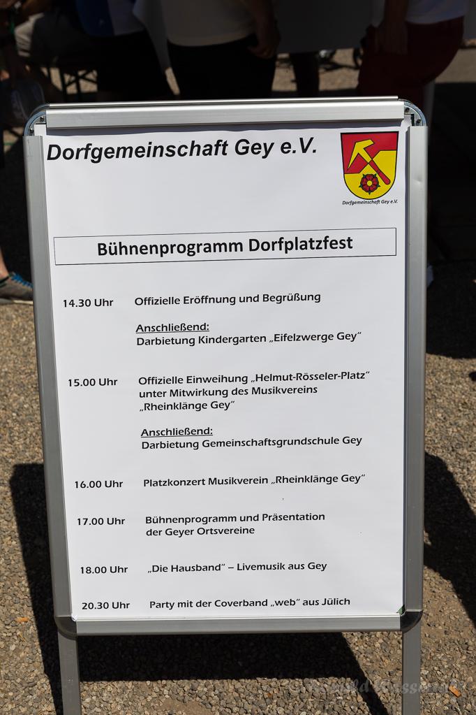 Das Programm zur Einweihung des Helmut-Rösseler-Platzes