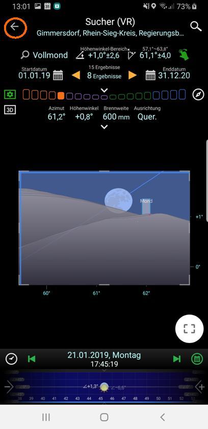 Mondhöhe korrigiert