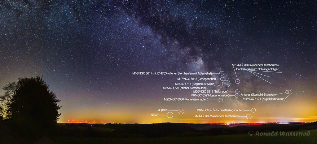 Milchstraßenpanorama - Astrofotografie