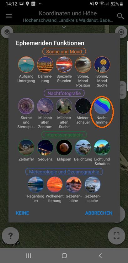 Milchstraßenfotos planen - Aufruf Nachthimmel (Bortle-Skala)
