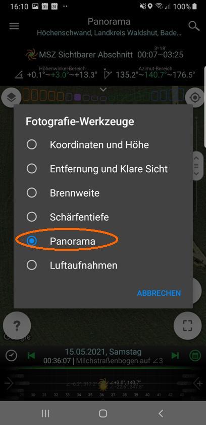 Panorama-Werkzeug