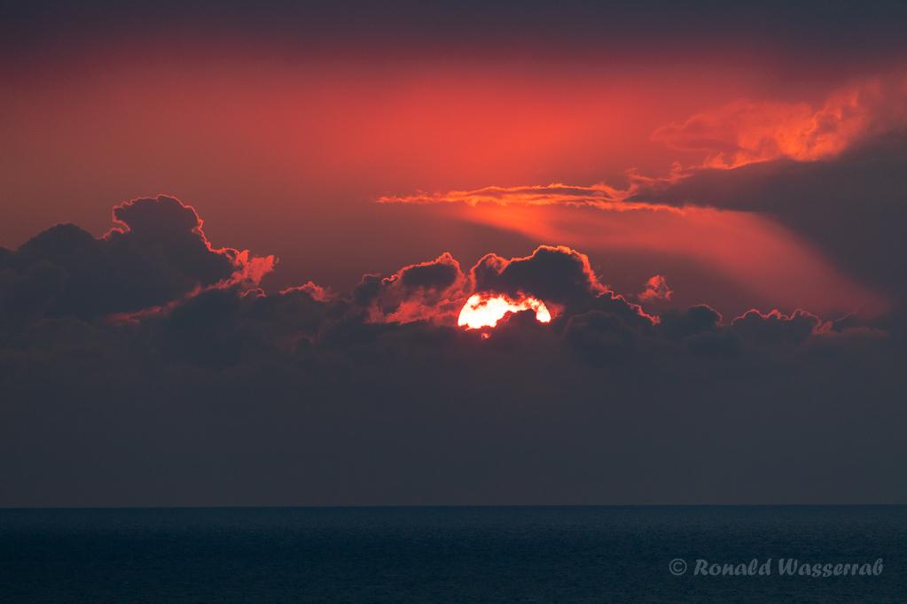 Sonnenuntergang auf Helgoland