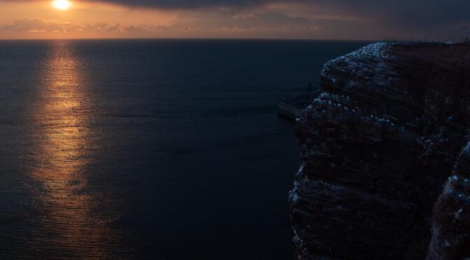 Abendstimmung am Lummenfelsen Helgoland