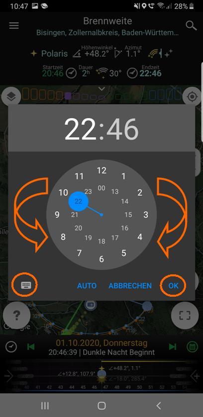 Zeitwahl (Stunden)
