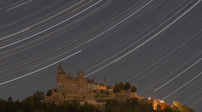 Lücken in den Startrails