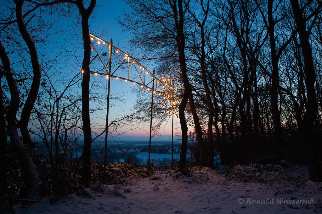 Weihnachtliche Impressionen - Der Stern von Bethlehem über Gey