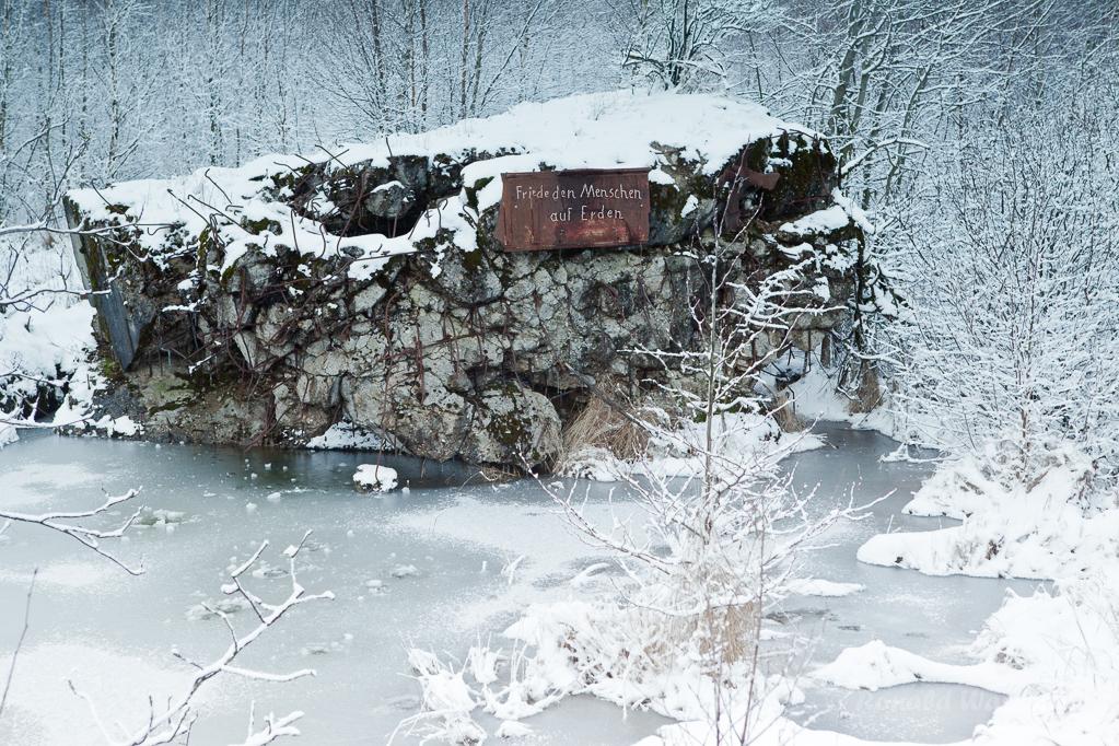 Weihnachtliche Impressionen - Bunker im Todtenbruch
