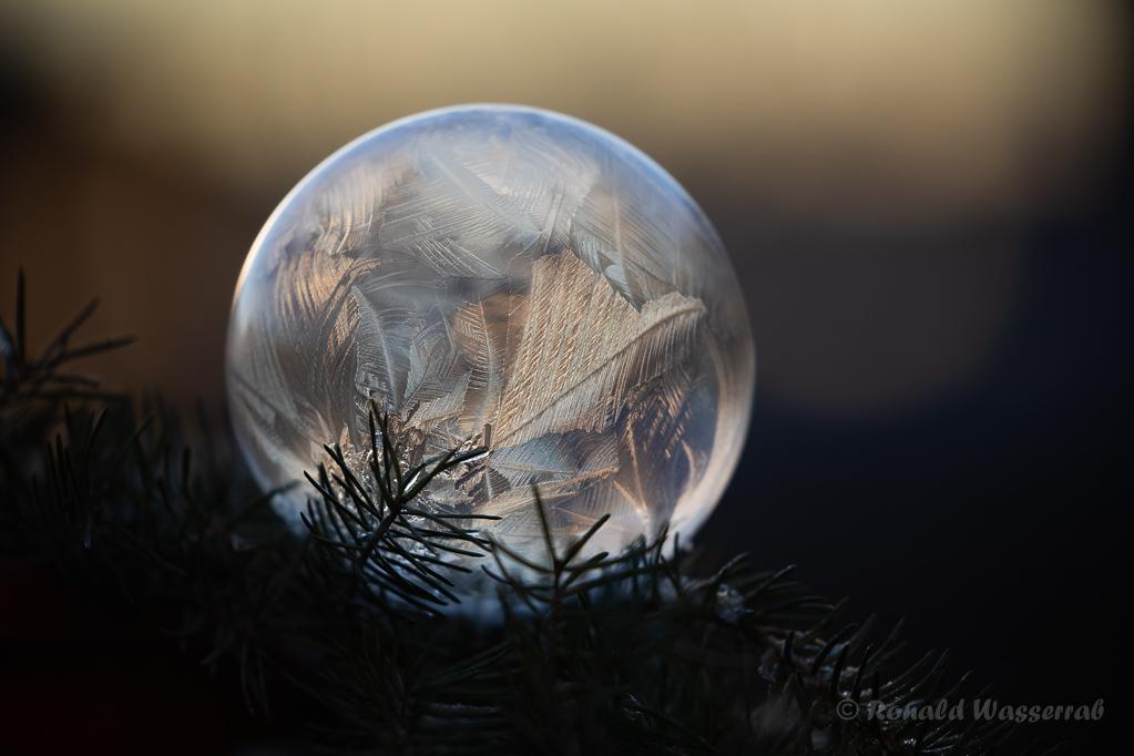 Weihnachtliche Impressionen - Gefrorene Seifenblase