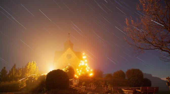 Sternspuren mit Nebel