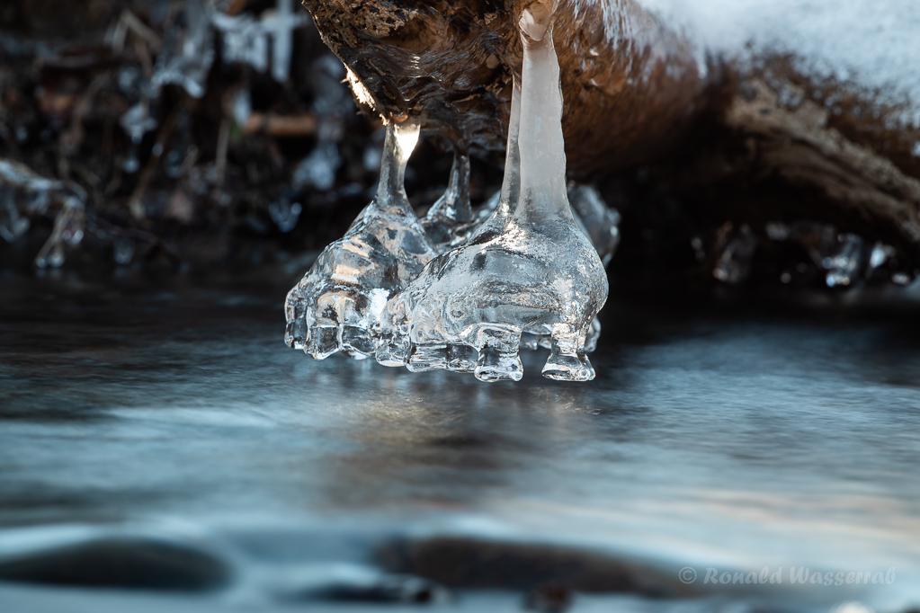 """Eisformationen - """"Elefantenfüße"""" in der Kall"""