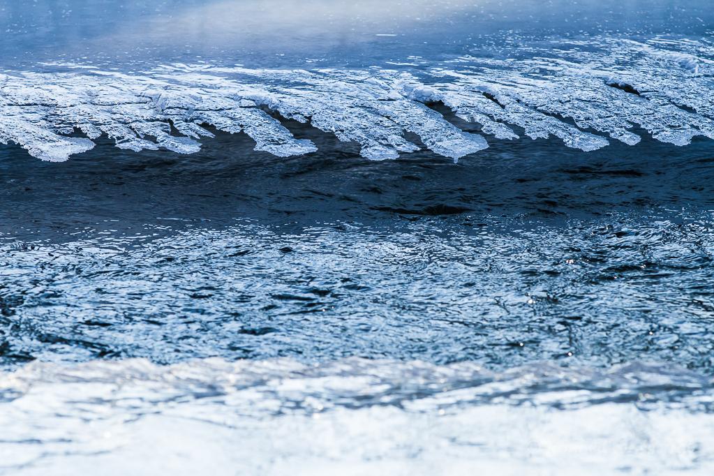 Eisrand in der Kall
