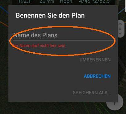PlanIt-Planungen – Neue Planung erstellen und speichern