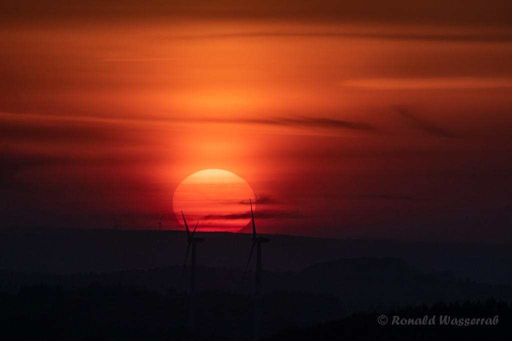 "Sonnenuntergang am ""Blausterne-Vulkan"""