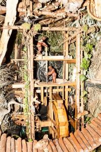 Mühle und Sägewerk in der Landschaftskrippe Höfen