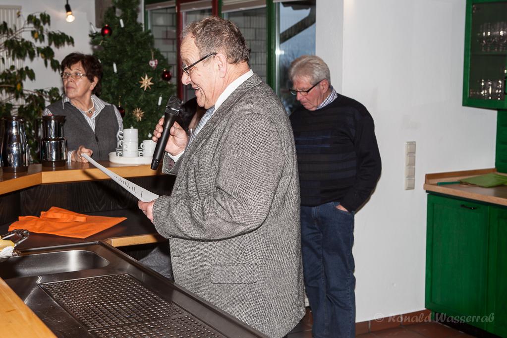 Begrüßung durch den Ortsvorsteher Helmut Rösseler
