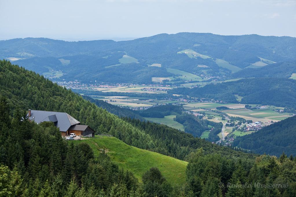 Wandern überm Himmelreich - Blick über die Höfener Hütte auf Himmelreich