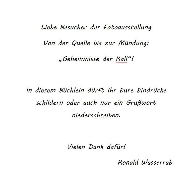 Gästebuch-Vorwort