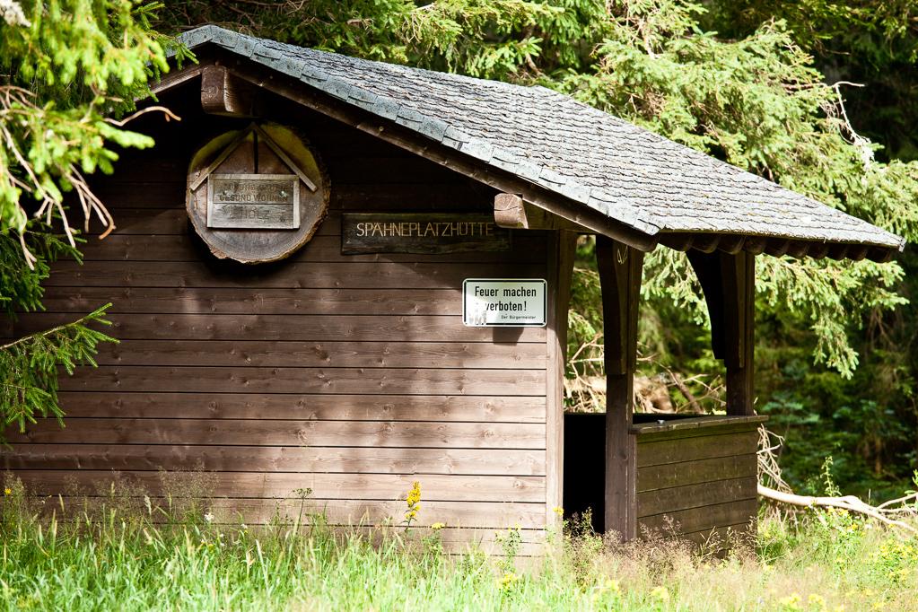 Wandern überm Himmelreich - Hütte am Spähnplatz bei Rinken