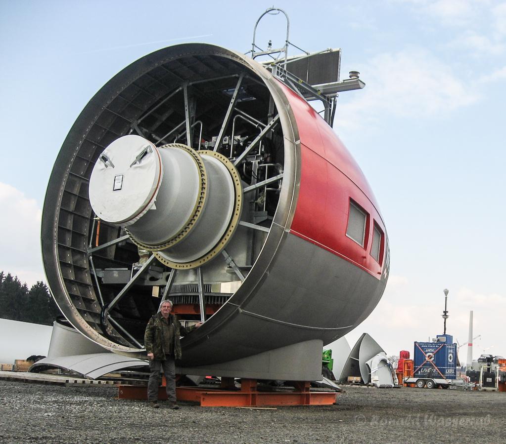 Windräder-Turbine bei Schönenseiffen