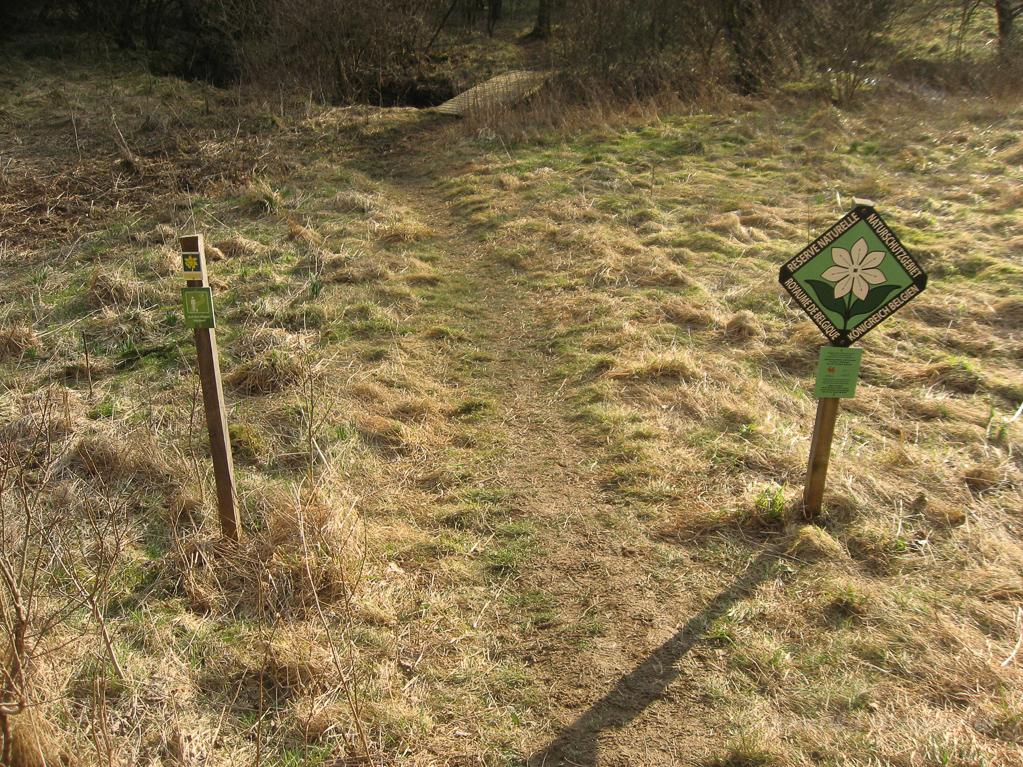 "Belgisches Schild ""Naturschutzgebiet"""